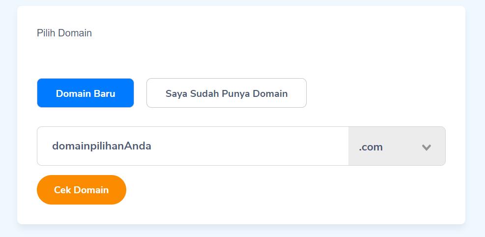 cek domain gratis di Niagahoster