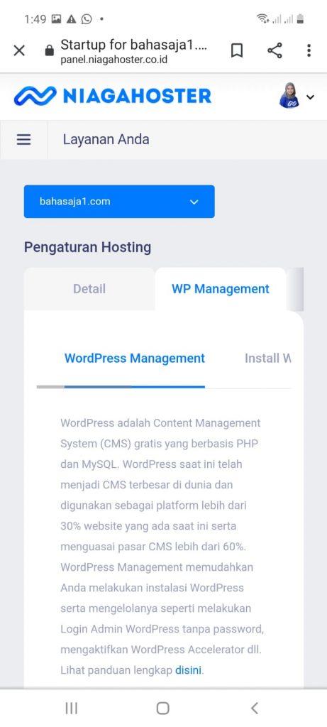 klik wordpress management