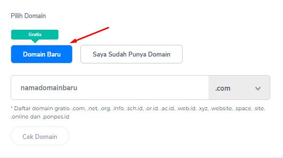 Domain Gratis Niagahoster
