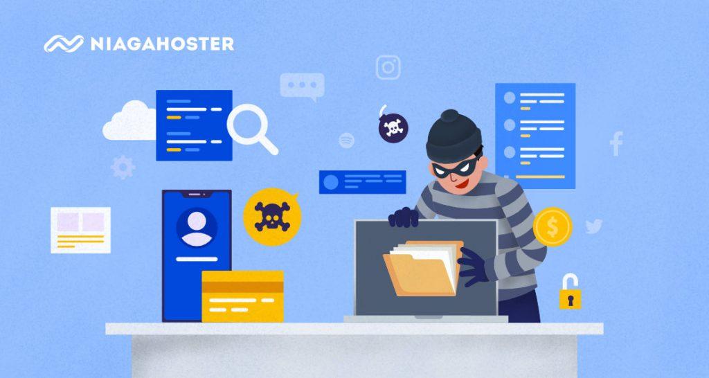 ilustrasi hacker yang mencoba menembus firewall