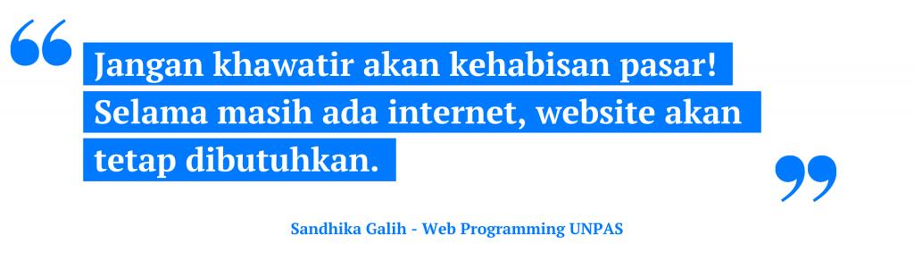 website akan tetap dibutuhkan