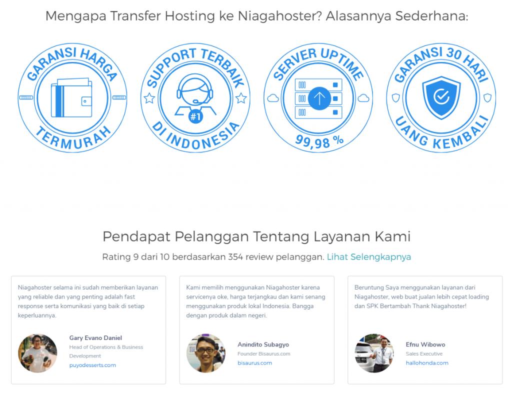 Alasan transfer hosting ke Niagahoster