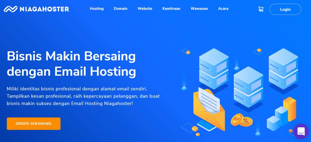 halaman utama email hosting niagahoster