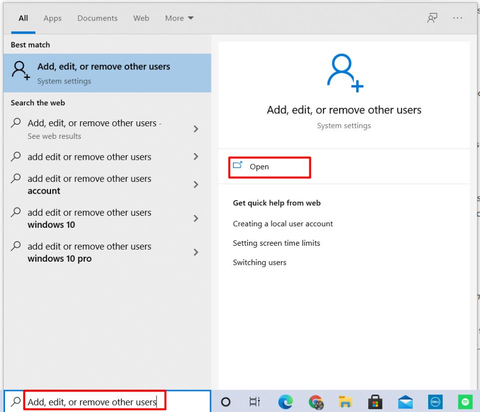 klik add, edit, or remove users