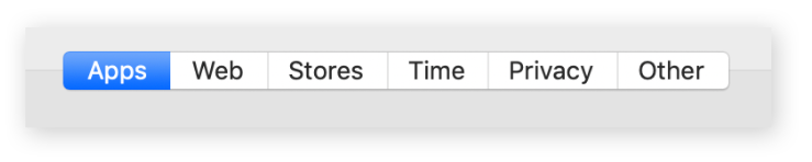 menu pengaturan blokir website dan aplikasi di Mac