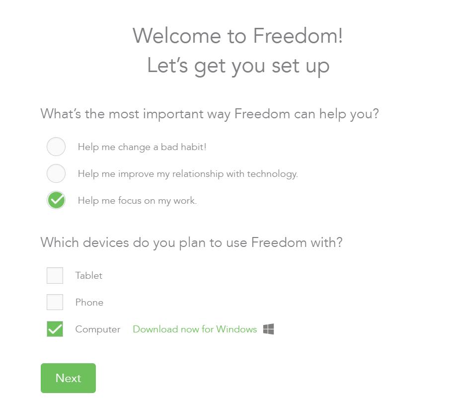 isi setup software Freedom