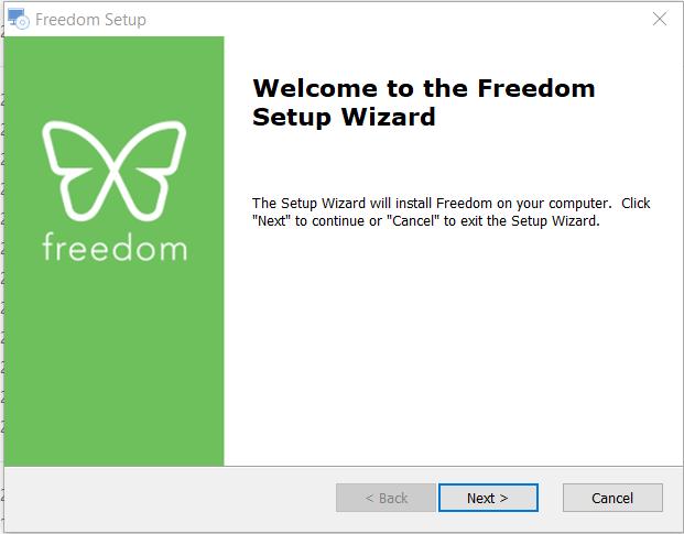 install Freedom di komputer sebagai cara memblokir situs