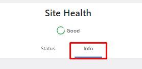 Klik Info Site Health