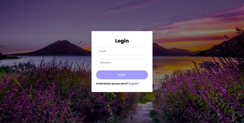 Tampilan halaman php login session