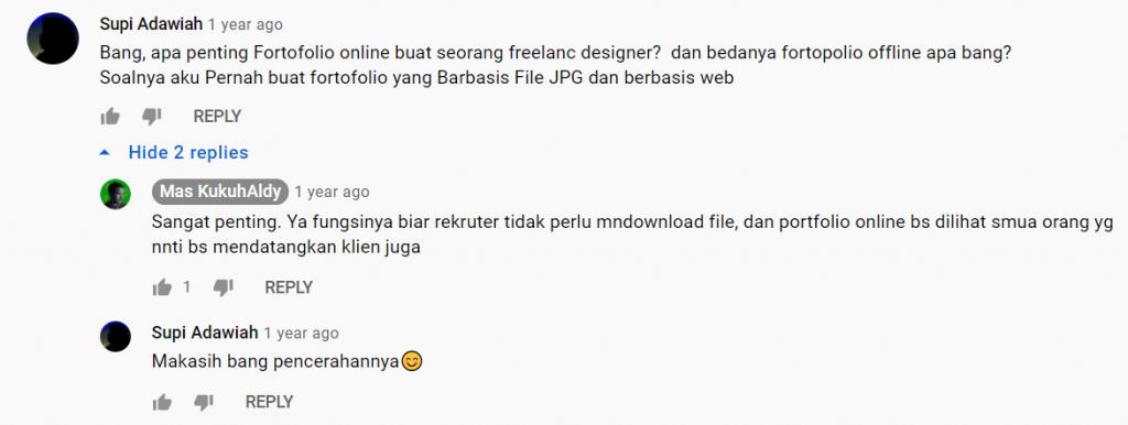 contoh promosi web designer