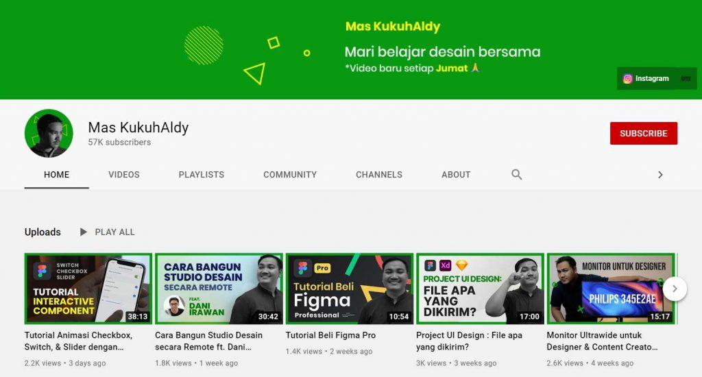 youtube mas kukuh aldy web designer