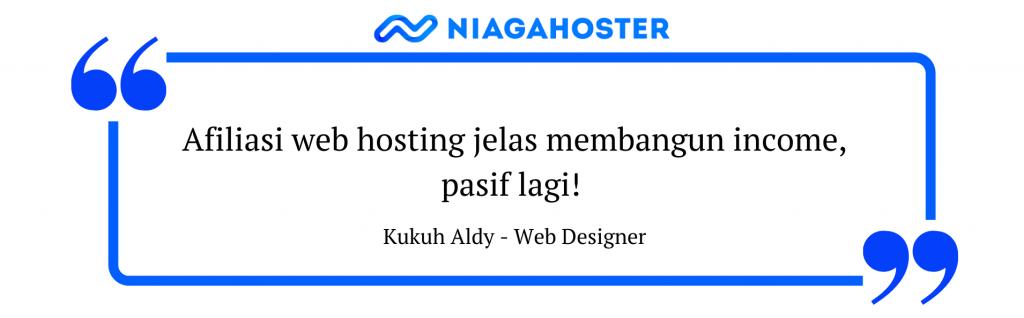 menghasilkan pasif income dengan afiliasi web hosting niagahoster