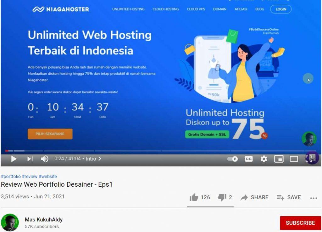 strategi promosi web hosting di youtube