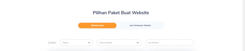 Pilihan Paket Buat Website
