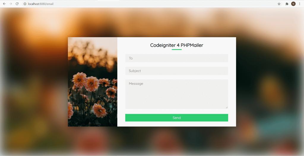 Form mengirim email dengan codeigniter phpmailer