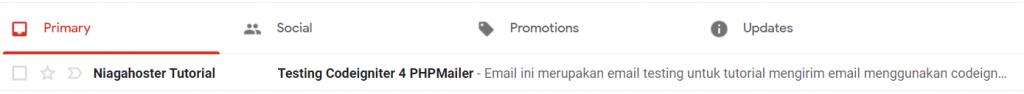Cek email masuk di email penerima