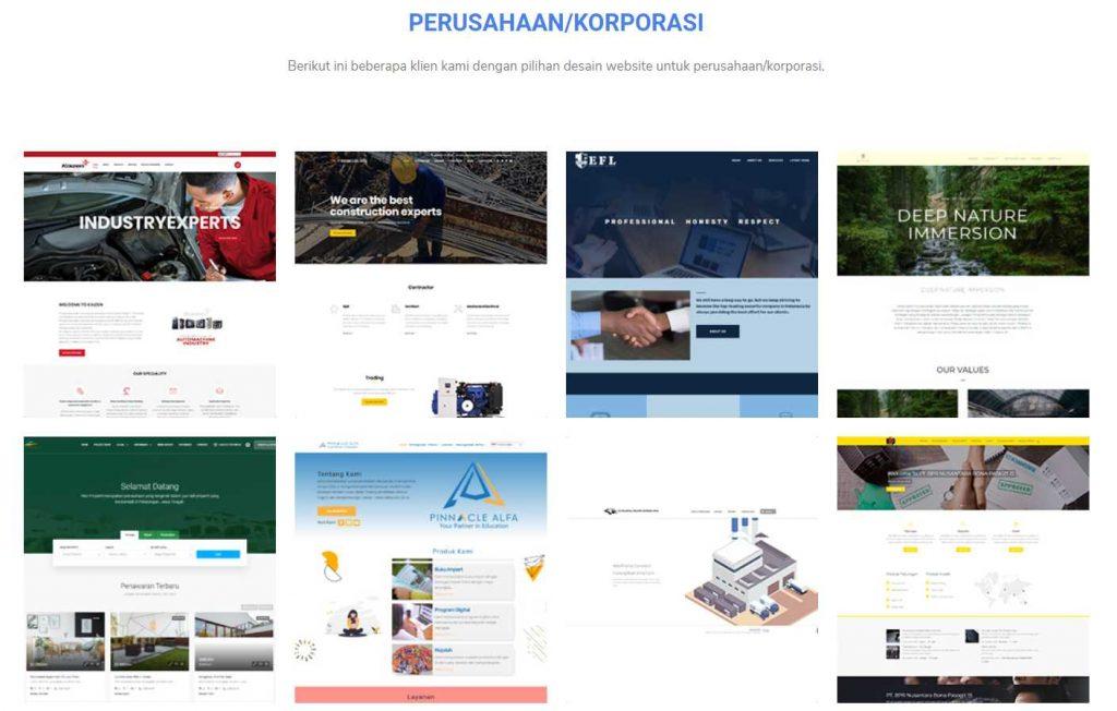contoh portofolio Niagaweb jasa pembuatan website