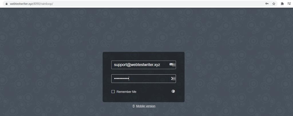 masukkan username dan password webmail