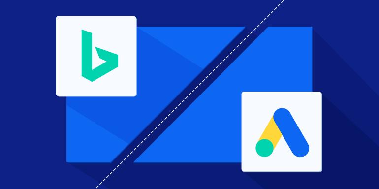 ilustrasi google ads vs bing