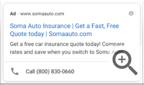 contoh iklan SEM ekstensi telepon