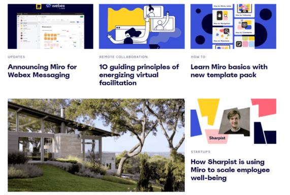 strategi content marketing Miro