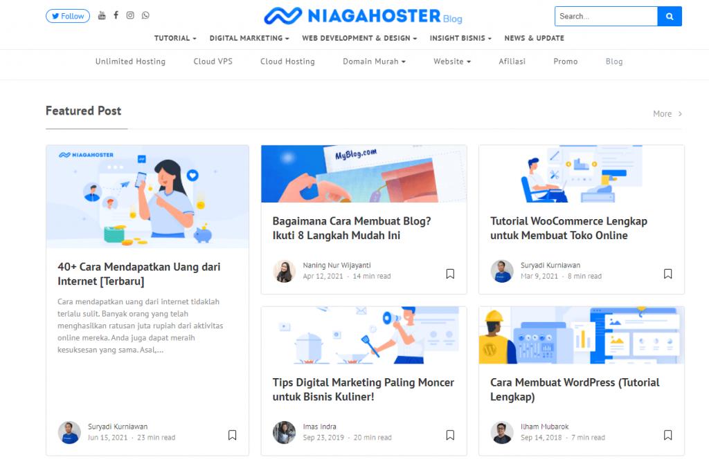 Blog Niagahoster