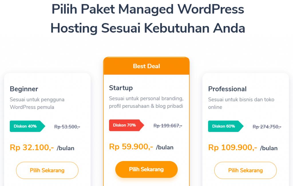 pilihan paket managed hosting untuk portofolio online