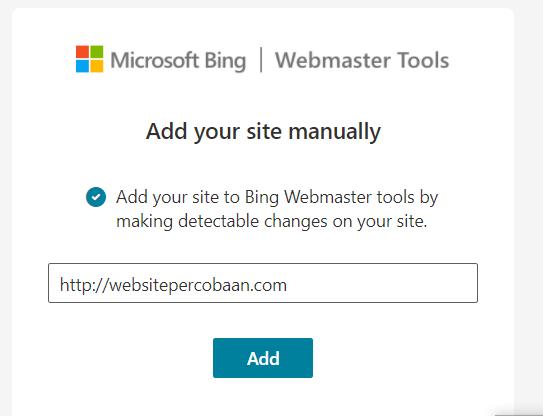 add website manually