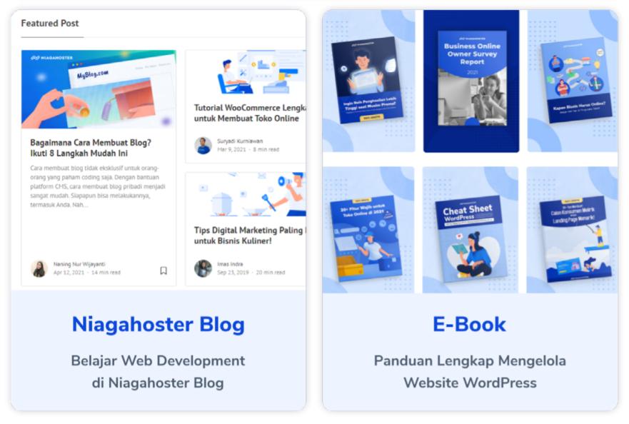 temukan informasi bermanfaat di blog Niagahoster dan download gratis ebooknya