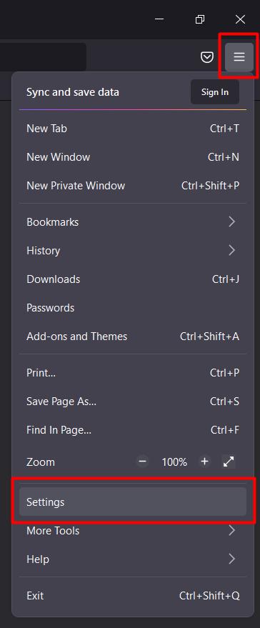 langkah pertama setting proxy di Mozilla Firefox