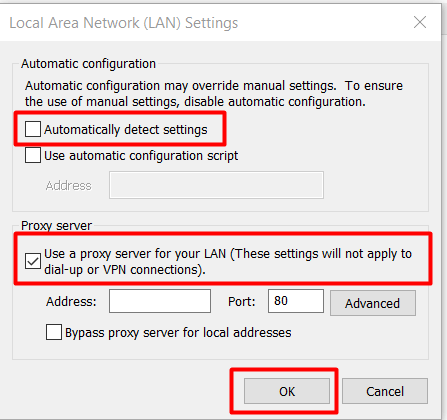 langkah ketiga setting proxy di internet explorer