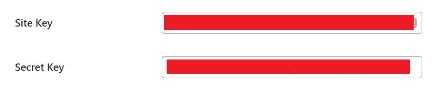 cara memasang captcha google di wordpress masukkan site key secret key
