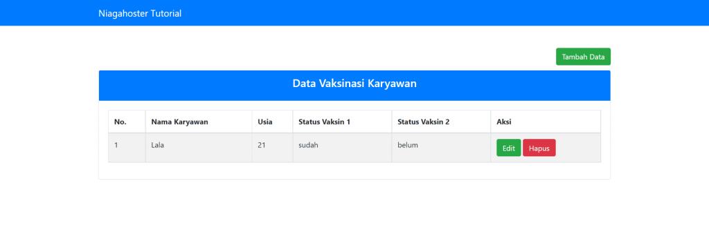 menampilkan data dari database