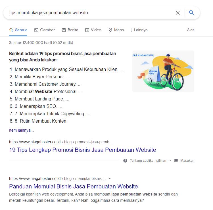 search intent tips jasa pembuatan website