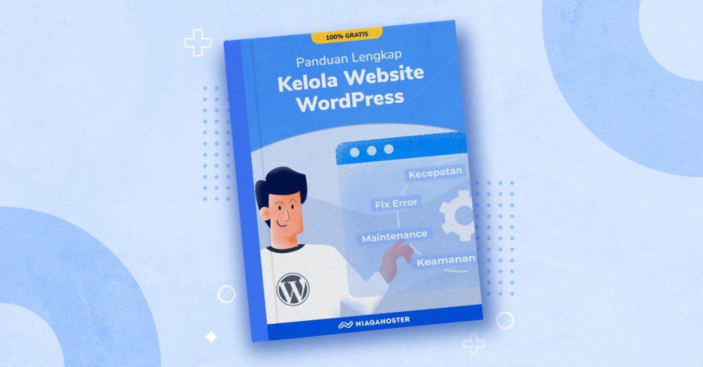 banner ebook kelola website wordpress