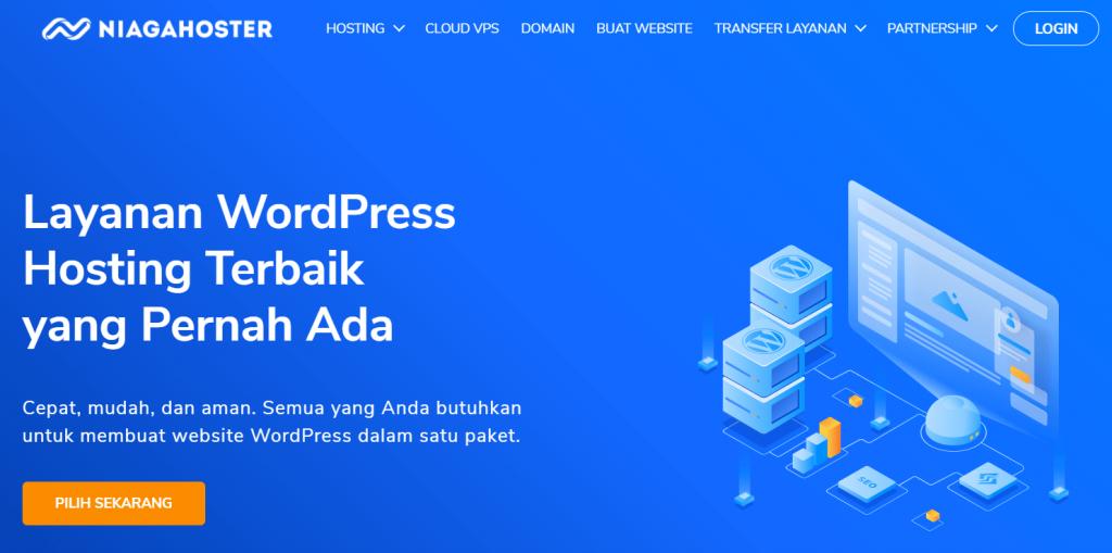halaman utama wordpress hosting niagahoster