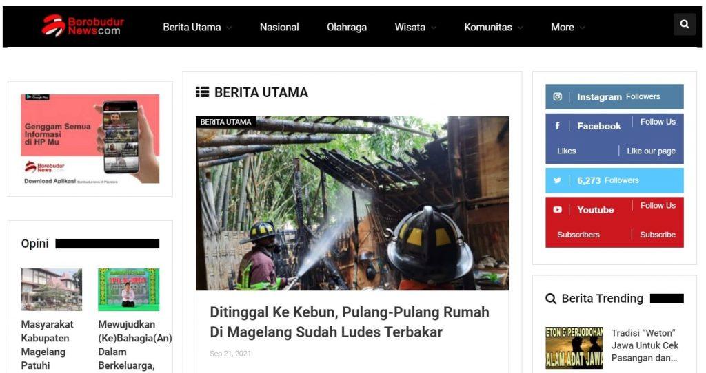 halaman utama borobudur news