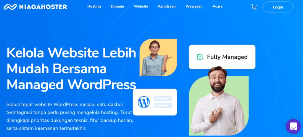 halaman utama managed wordpress niagahoster