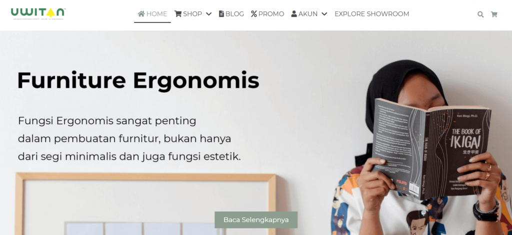 halaman utama website uwitan
