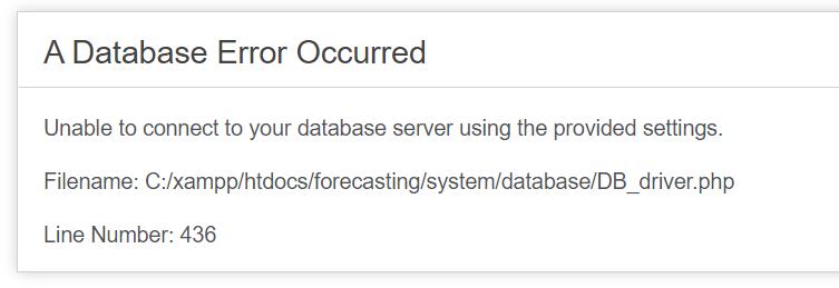 a database error occurred codeigniter