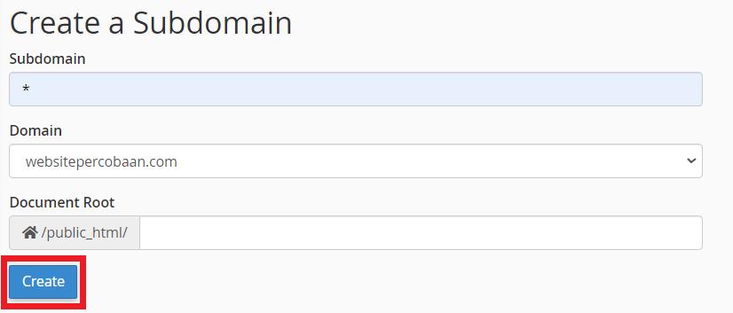 membuat DNS wildcard