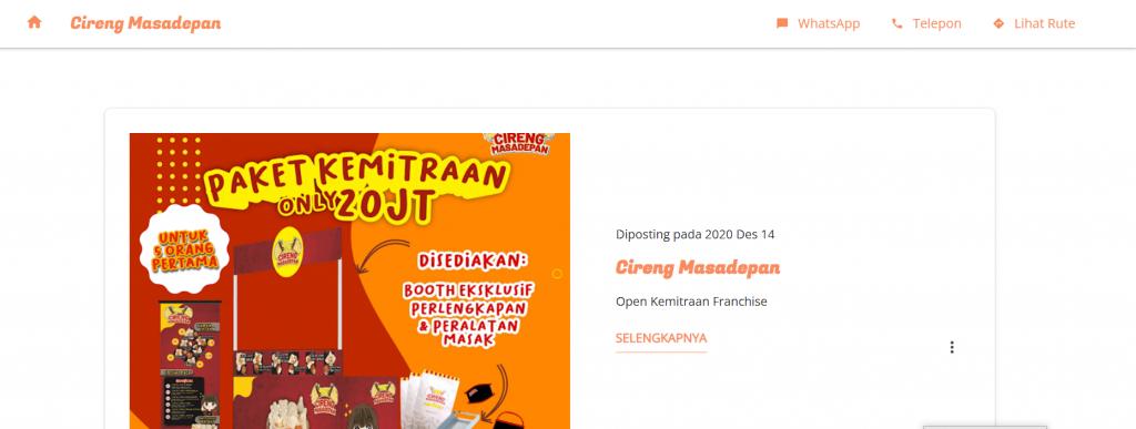 website bisnis makanan cireng