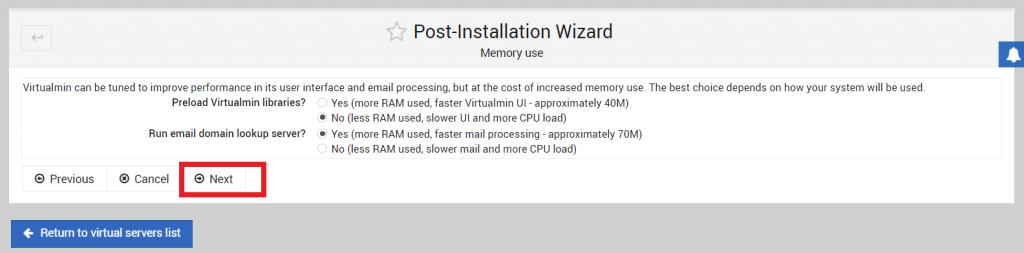 konfigurasi penggunan memory