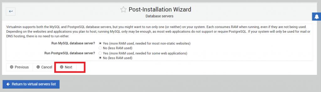 konfigurasi database server