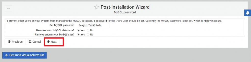 konfigurasi mysql password