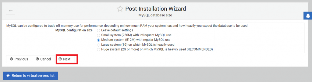 konfigurasi mysql database size