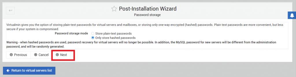 konfigurasi penyimpanan password