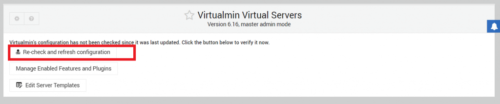 recheck and refresh configuration