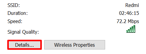 klik detail ip address