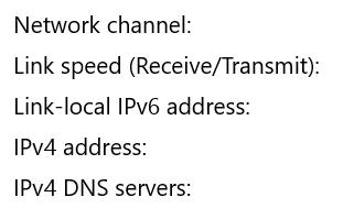 hasil ip address di properties wifi